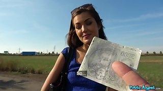 Full play in open-air POV be advisable for a cute amateur Czech girl