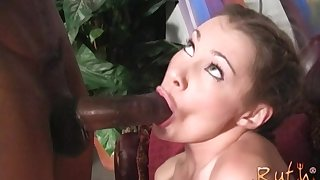 Cindy Sterling and Ruth Blackwell take turns fucking a big black cock