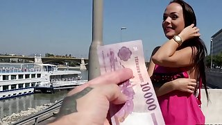Girl accepts money in exchange for a few rounds of porn