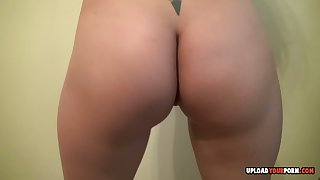 Brunette strips and teases newcomer disabuse of various angles