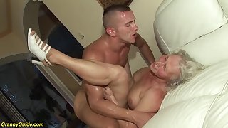 horny 76 years aged granny gives a wikd tit be captivated by and experimental deepthroat for her young toyboy
