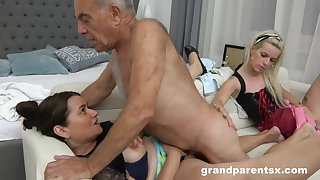A Hotness Kinky Young Housemaid Fucks Grey  - Grey and Young