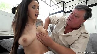 granpa gets young cutie lover taste - enduring porn video