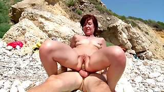 Hot mature gets a young Hawkshaw to devour their way inseparable holes