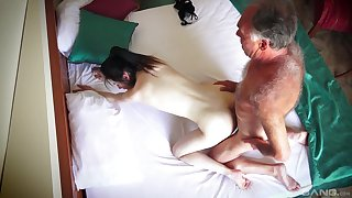 Hotel room spy cam records amateur couple having amazing sex